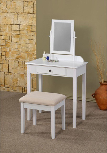 Best Lilette White Vanity Contemporary Bedroom Makeup With Pictures
