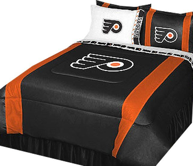 Best Nhl Philadelphia Flyers Bed Set Hockey Logo Bedding With Pictures