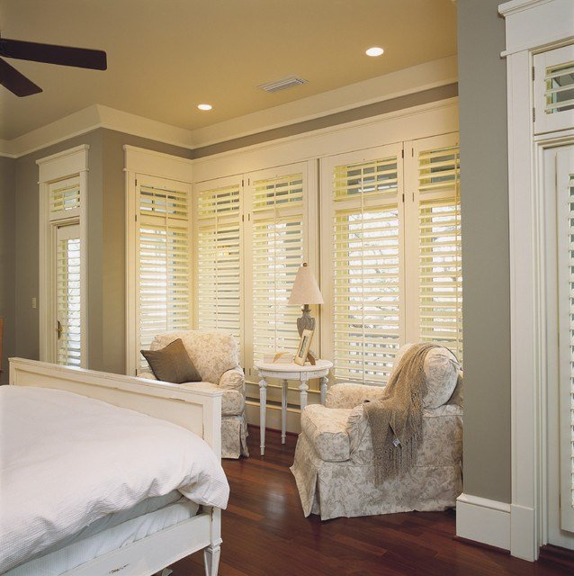 Best Bedroom Plantation Shutters Shabby Chic Style Bedroom With Pictures