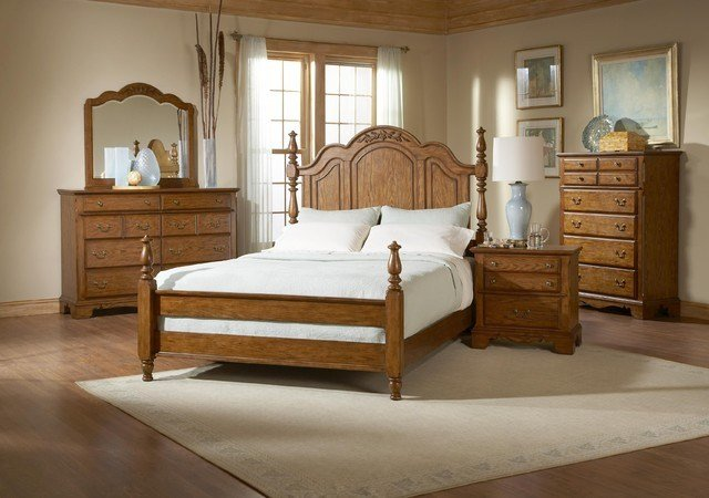 Best Broyhill Oakridge King Poster 7 Piece Bedroom Set 4296 With Pictures
