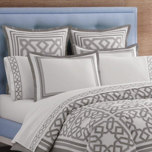 Best Jonathan Adler Bedding Parish Gray Duvet Cover Or Set With Pictures