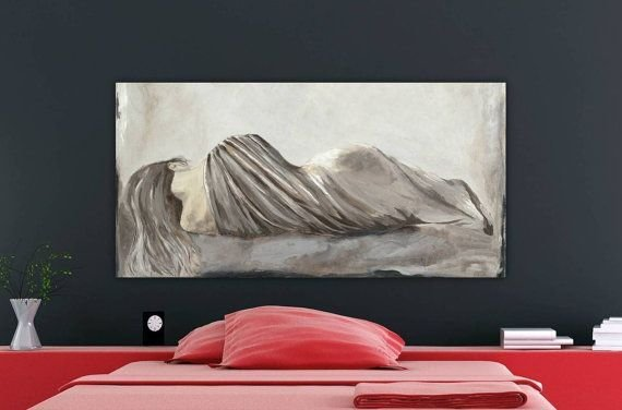 Best Very Large Figurative Canvas Art Print S*Xy Woman Bedroom With Pictures