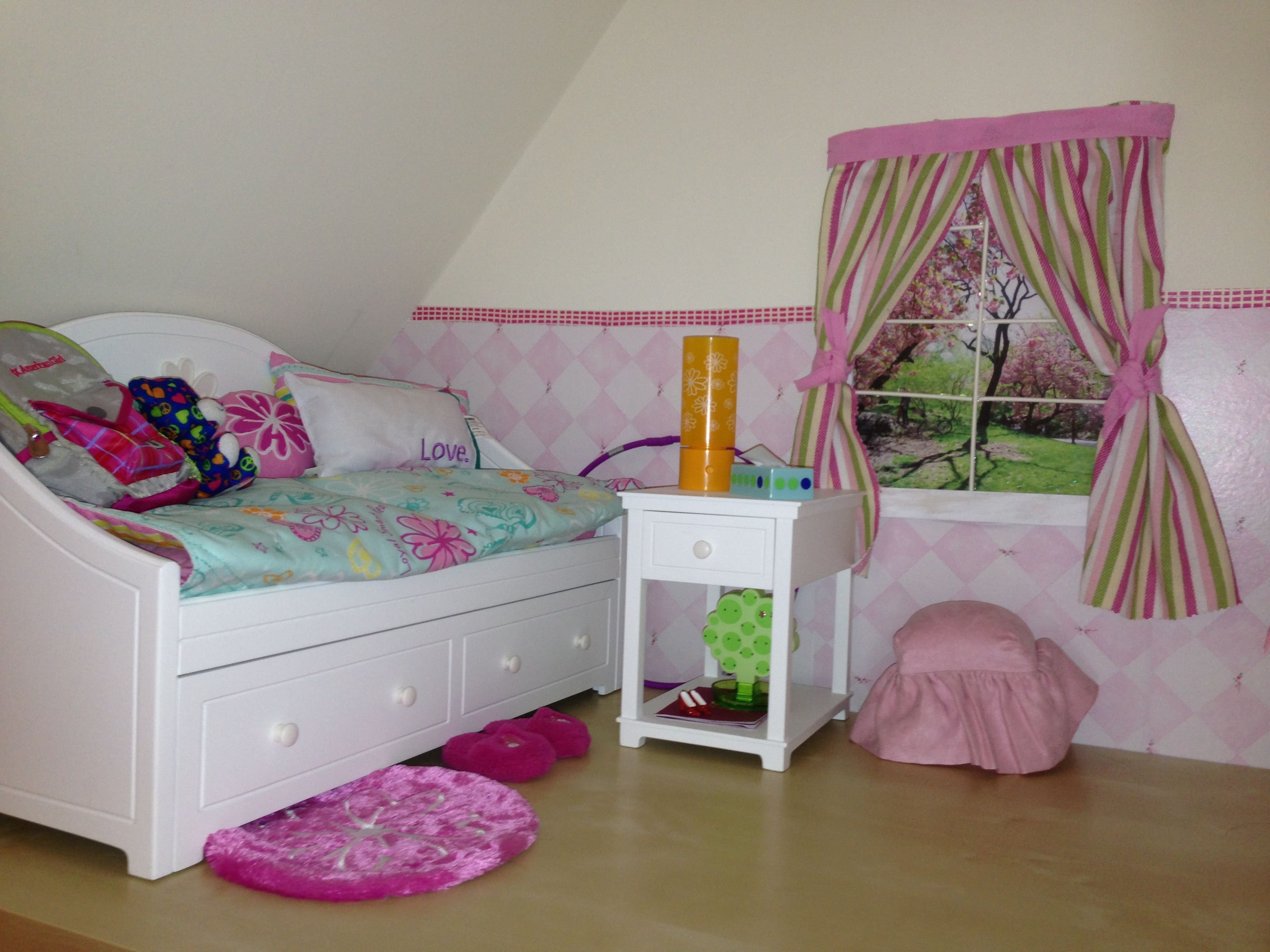 Best Bedroom For American Girl Doll Dolls Furniture Pinterest With Pictures