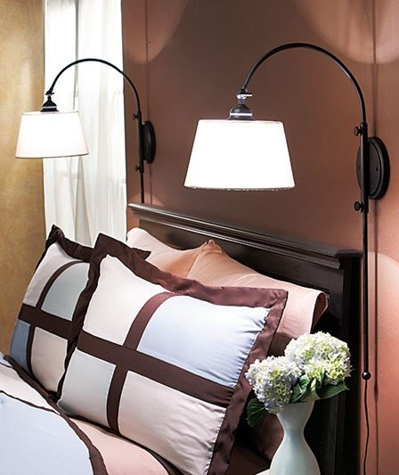 Best One 1 New Adjustable Bedside Wall Lamp Black Reading Light Sconce B… With Pictures