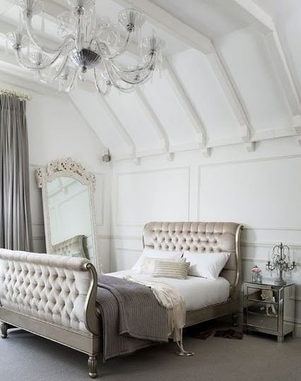 Best White Silver Bedroom Fitness Pinterest With Pictures