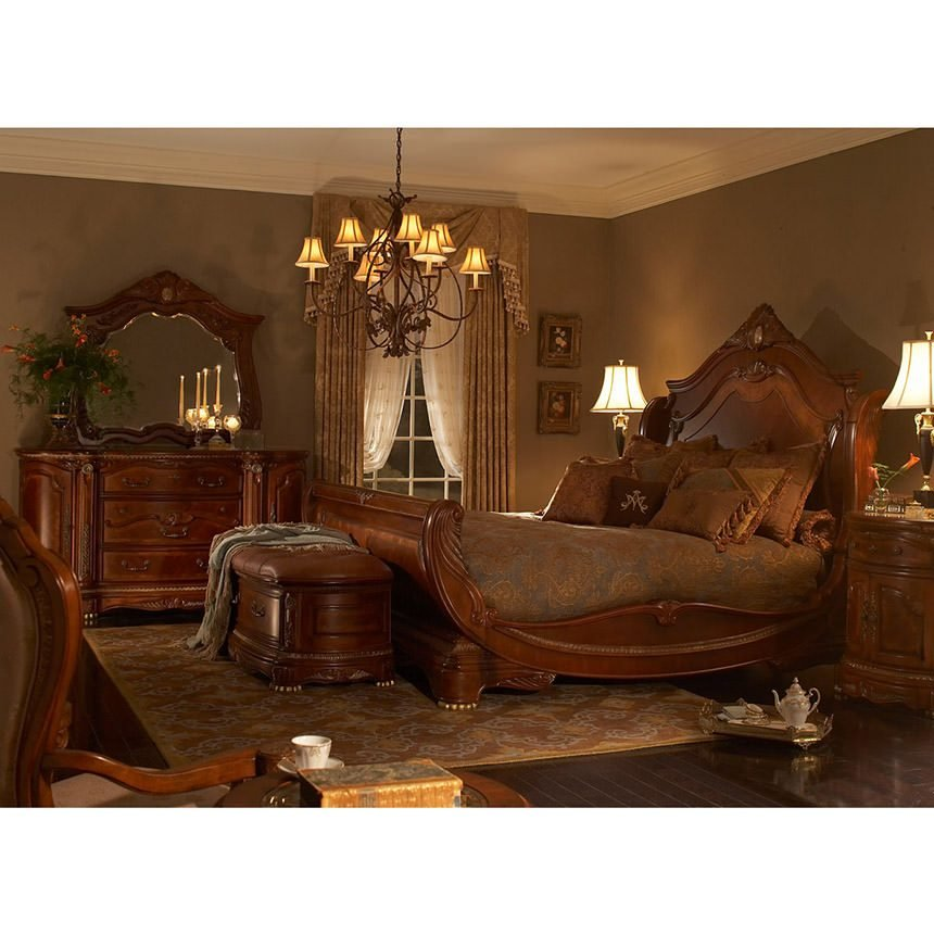 Best Cortina King Sleigh Bed El Dorado Furniture With Pictures