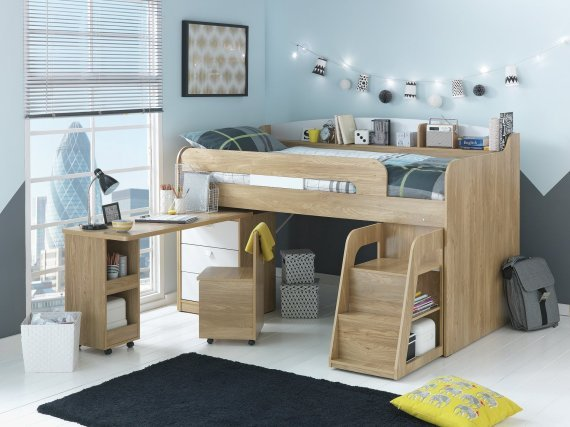 Best Buy Collection Ultimate Storage Midsleeper Bed Wood With Pictures