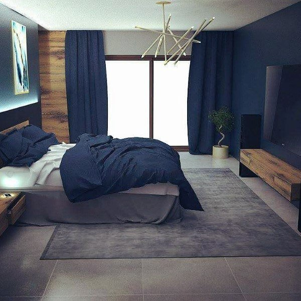 Best Top 50 Best Navy Blue Bedroom Design Ideas Calming Wall Colors With Pictures