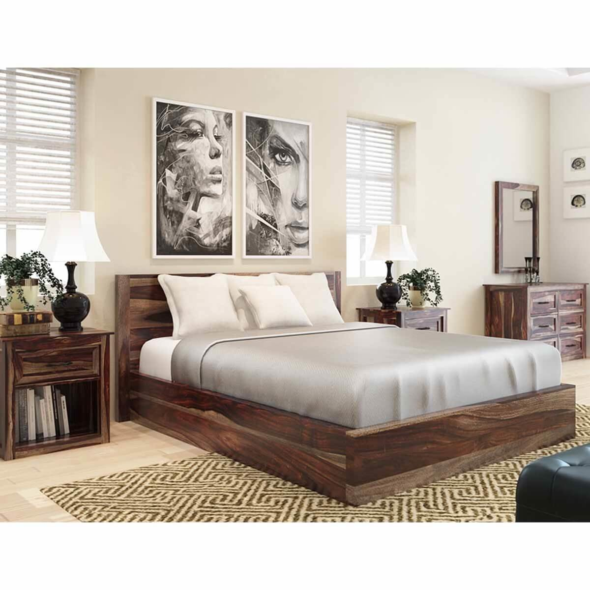 Best Jamaica Rustic Solid Wood 5 Piece King Size Bedroom Rtp With Pictures