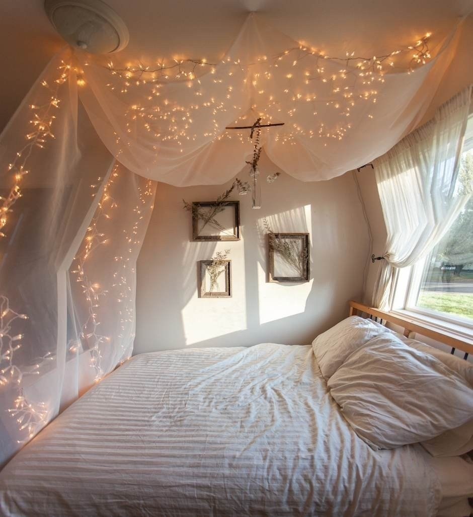 Best Creative Ways To Decorate Your Bedroom With String Lights With Pictures