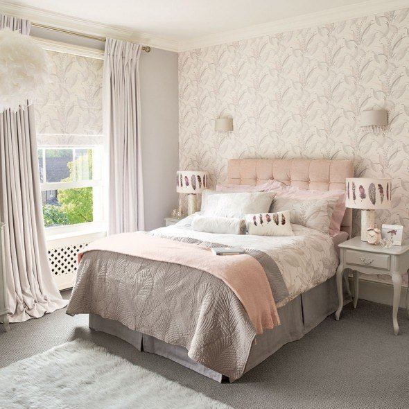 Best 12 Pink And Grey Bedroom Ideas Pink And Grey Bedroom Colour Decor Good Housekeeping With Pictures