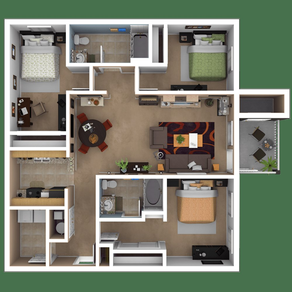Best Baton Rouge Apartments Floor Plans With Pictures