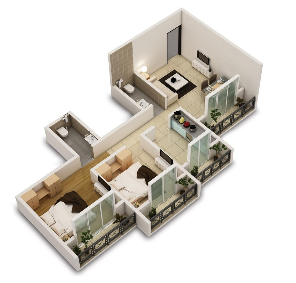 Best 25 Two Bedroom House Apartment Floor Plans – Amazing With Pictures