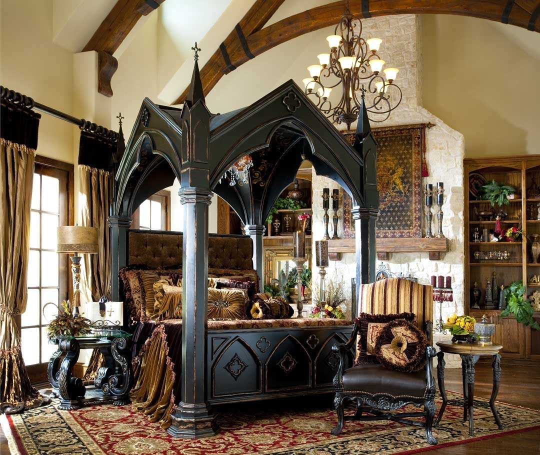Best Bernadette Livingston Furniture Bring Home Gothic Castle Bed To Complement Your Bedroom With Pictures
