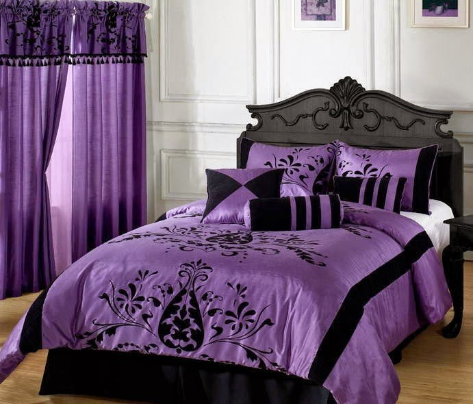 Best Top Graphic Of Gray Purple Bedroom Patricia Woodard With Pictures