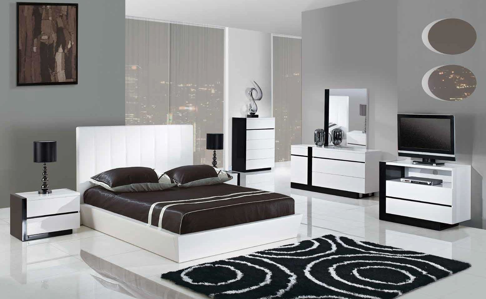 Best Trinity 5Pcs King Size Modern Platform Bedroom Set White With Pictures