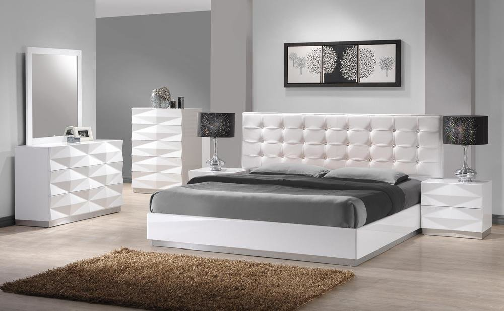 Best Carrerie King Size Modern White Leatherette Headboard With Pictures