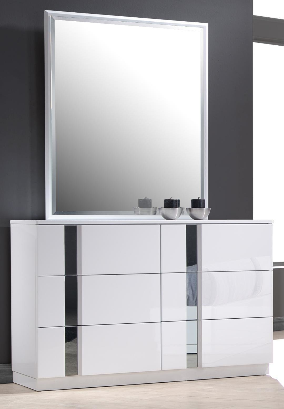 Best Monte Carlo King Size White Lacquer Chrome 5Pc Bedroom With Pictures