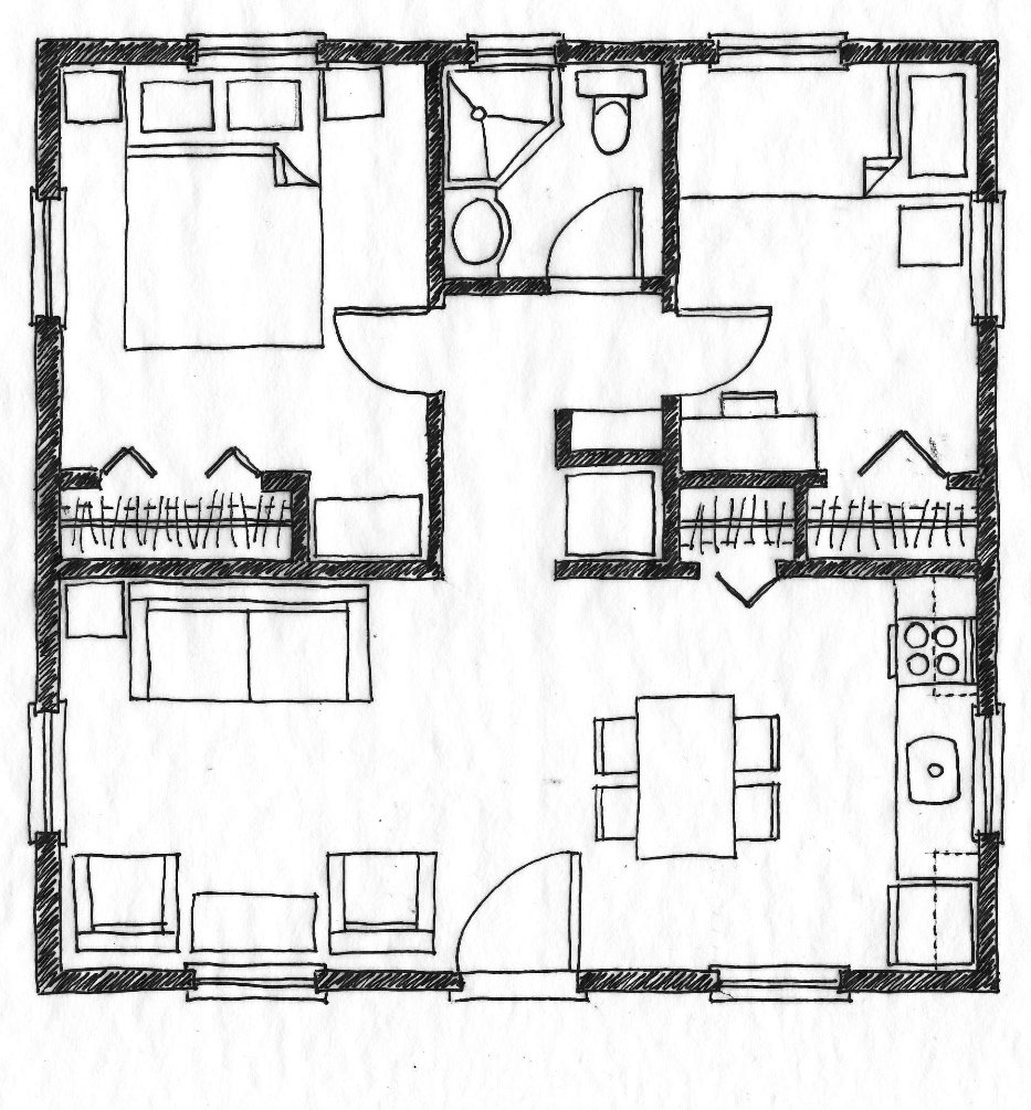 Best Small Scale Homes 576 Square Foot Two Bedroom House Plans With Pictures
