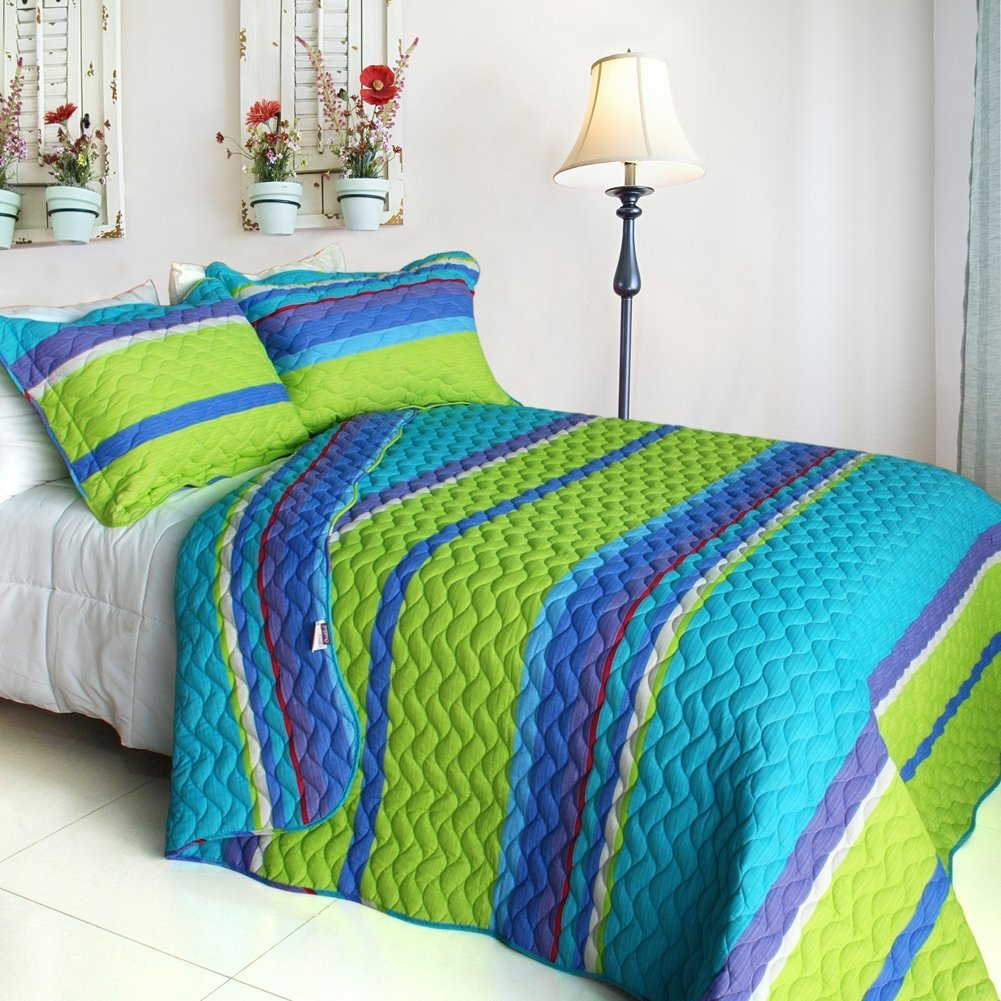 Best Turquoise Blue And Lime Green Bedding Sets With Pictures