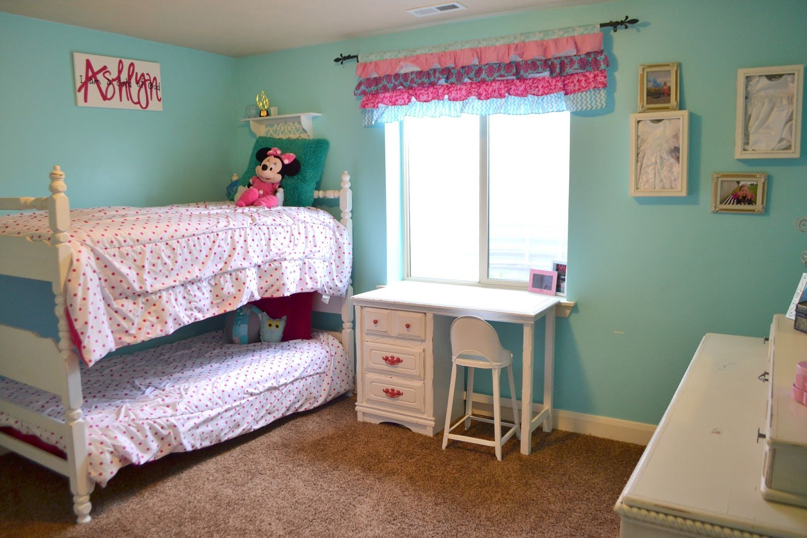 Best Hot Pink And Turquoise Girls Bedroom A Vision To With Pictures