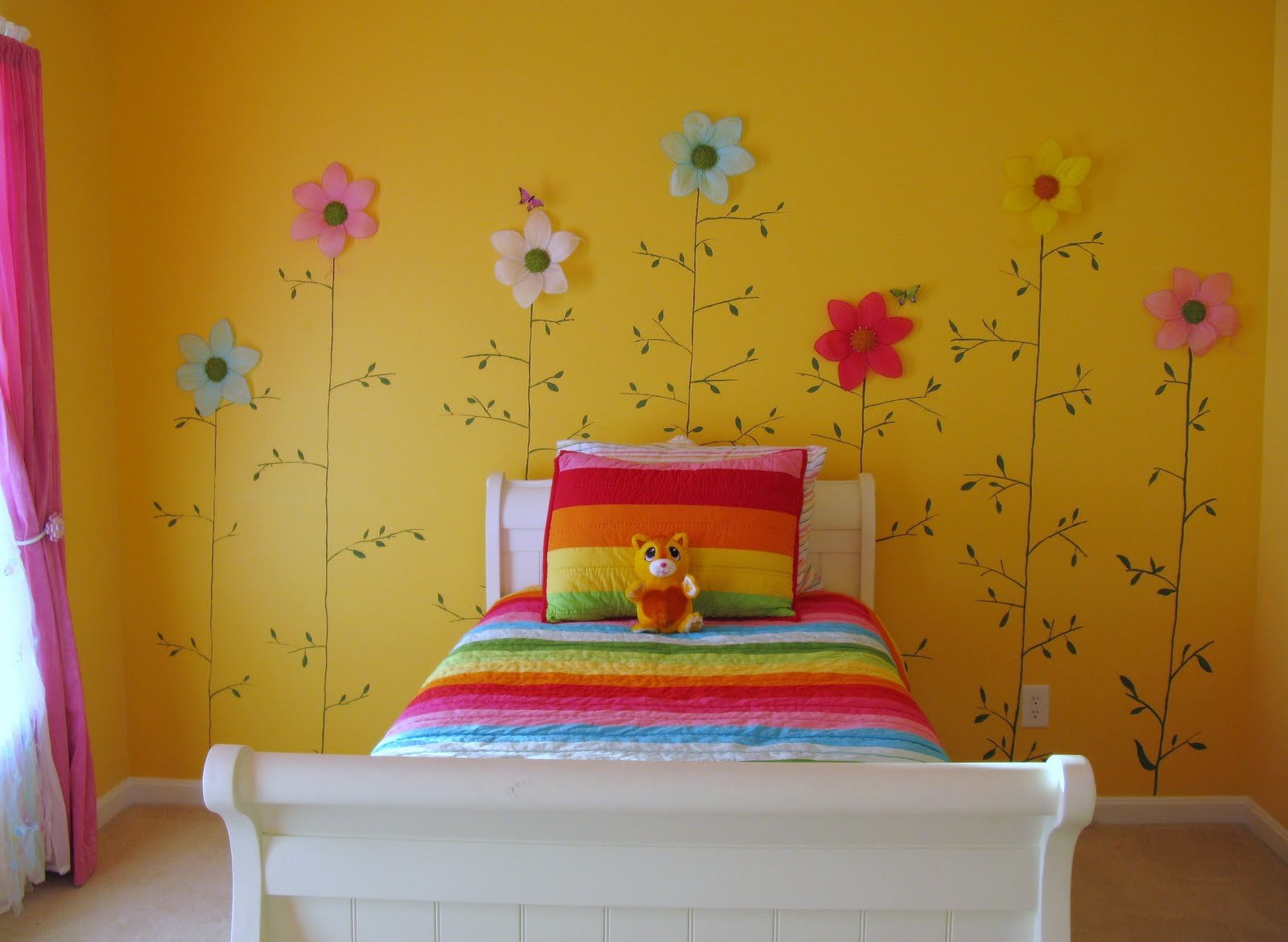 Best Loveyourroom Little Girls Yellow Flower Bedroom With Pictures