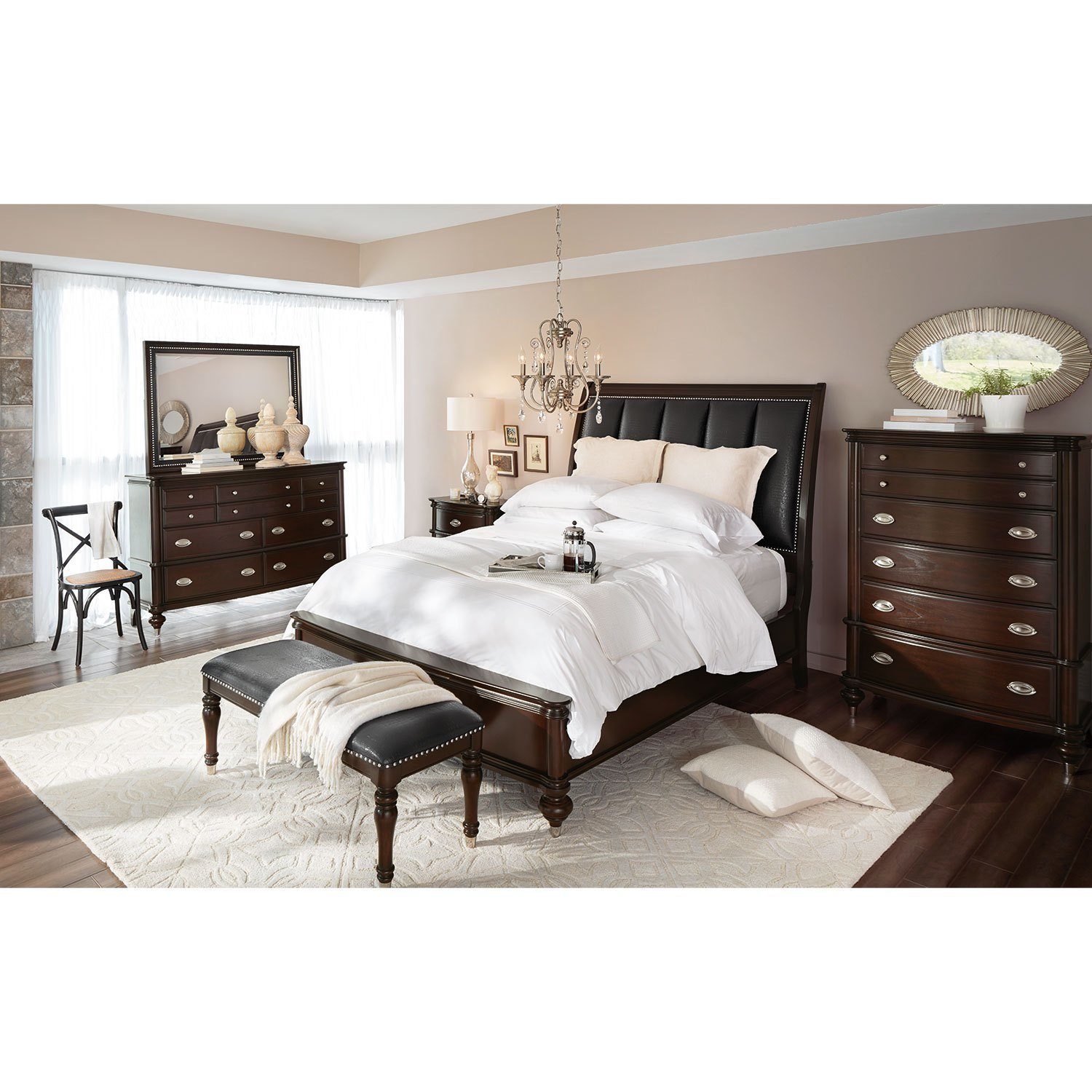 Best Esquire Queen Bed Merlot American Signature Furniture With Pictures