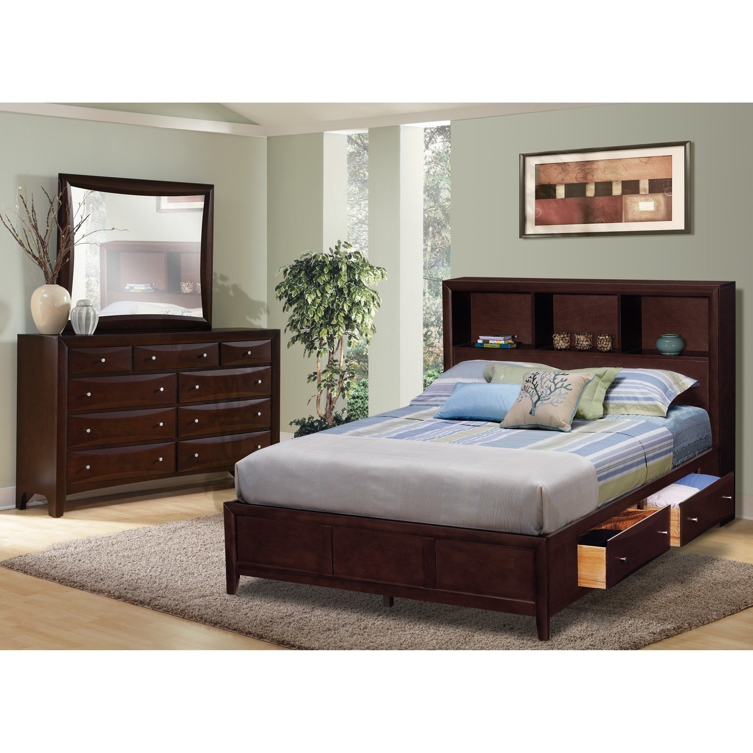 Best Clarion Bedroom 5 Pc King Wall Bedroom Value City Furniture With Pictures