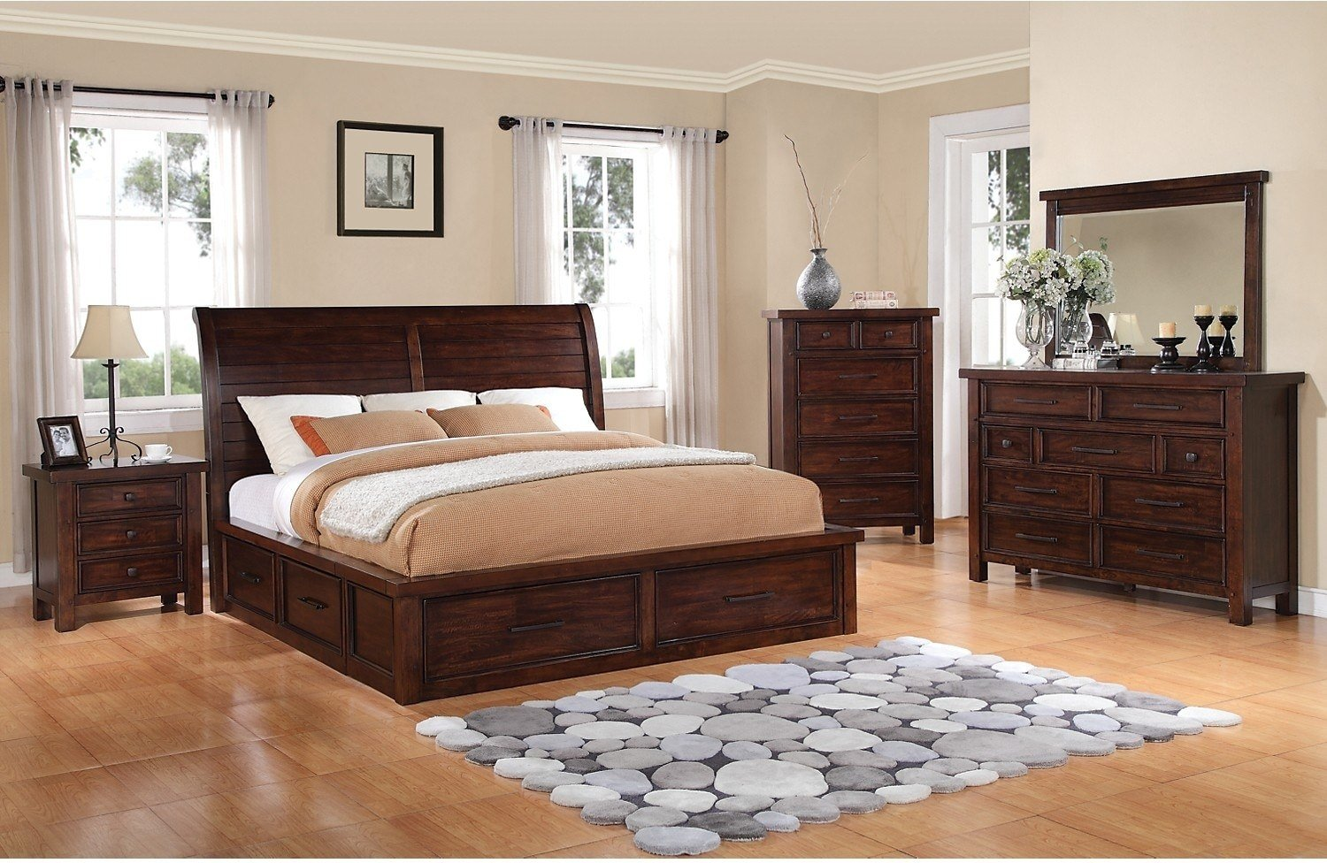 Best Sonoma 8 Piece King Storage Bedroom Set Dark Brown The With Pictures