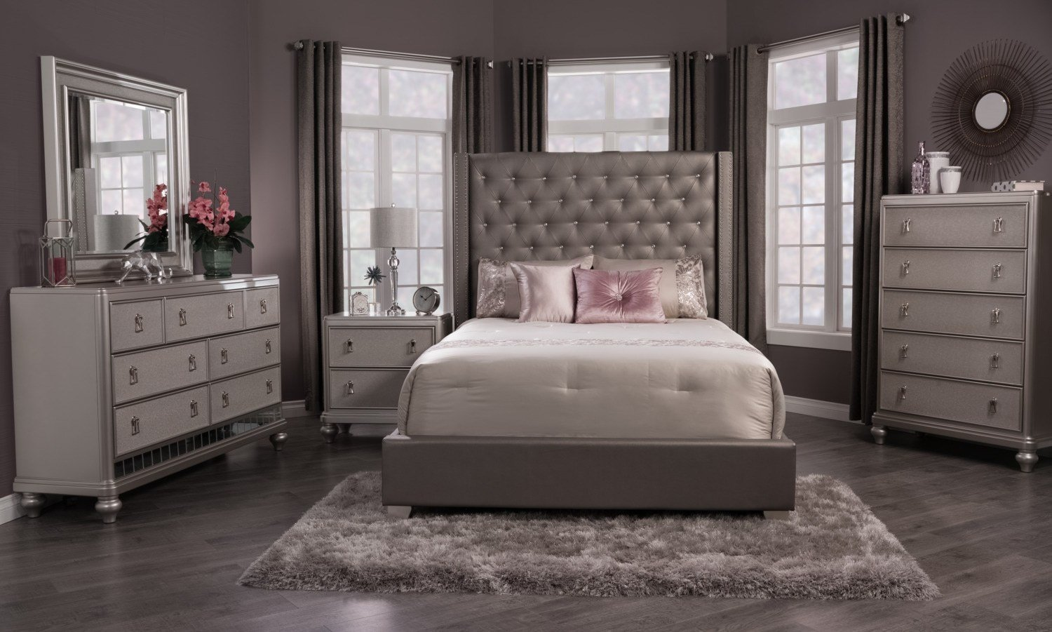 Best Diva Faux Leather Queen Bed The Brick With Pictures