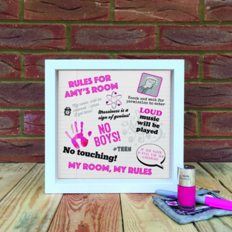 Best Teenager Personalised Bedroom Rules By Applemint Designs With Pictures