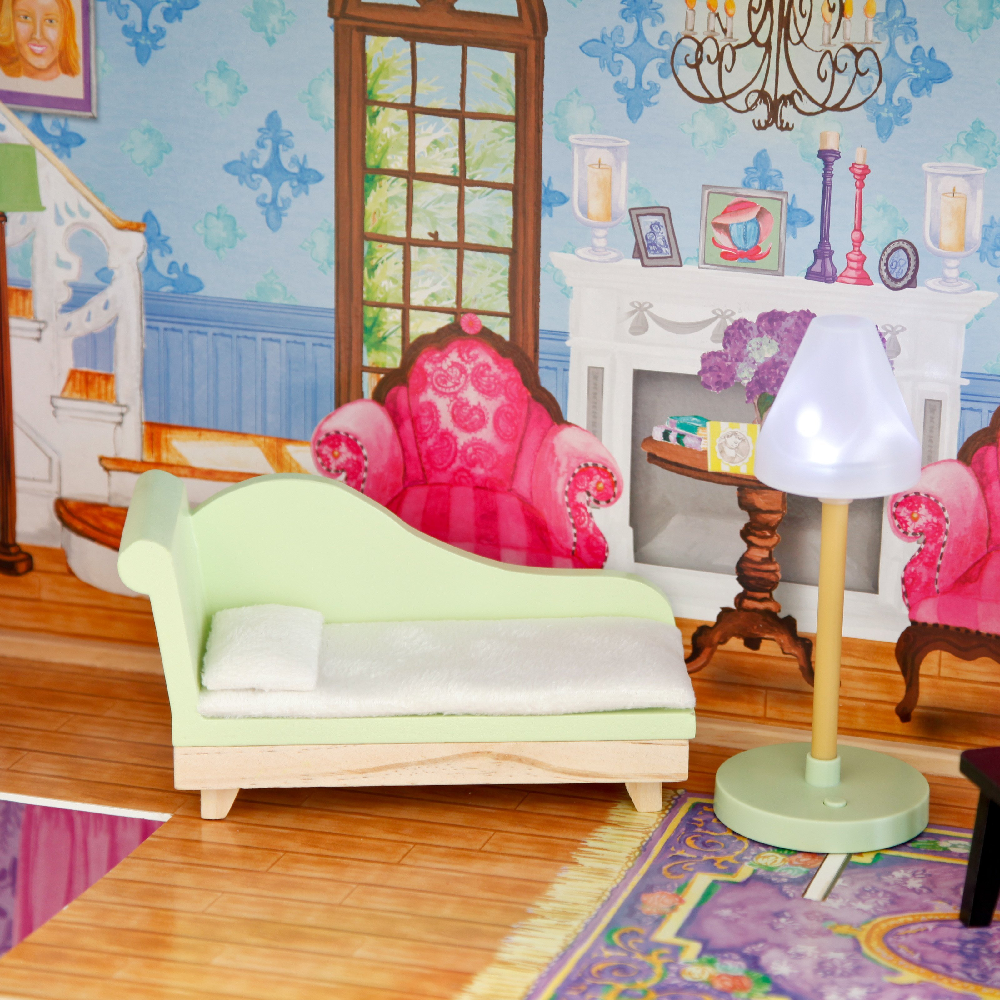 Best Kidkraft My Dreamy Wooden Dollhouse With 14 Pieces With Pictures