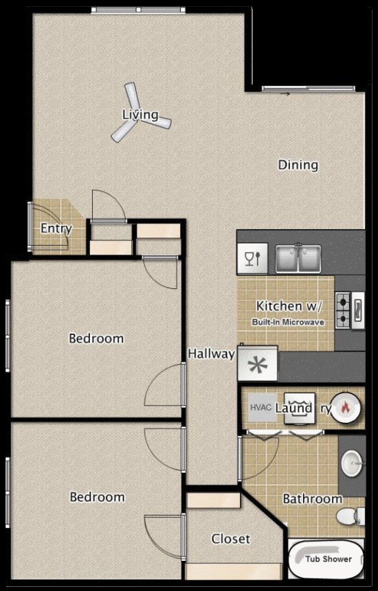 Best 2 Bedroom 1 Bath Apartment Floor Plans Medford Oregon With Pictures