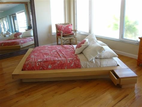 Best Wood Pallet Bed Frame With Drawers Also White Cusion With Pictures