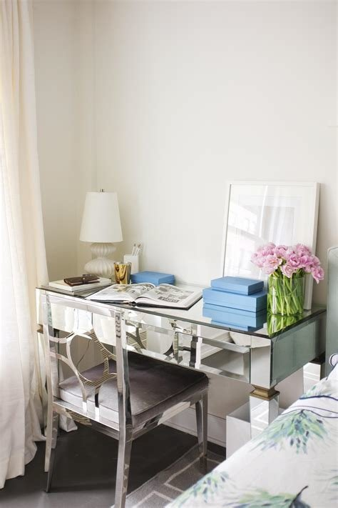 Best Photos Hgtv Contemporary Mirrored Desk Gleams In Neutral With Pictures