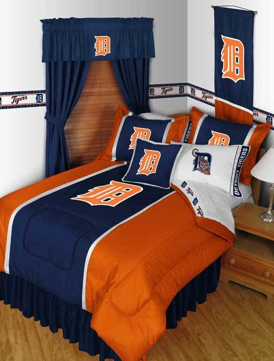 Best Detroit Tigers Queen Bedding Set Mlb Baseball Comforter Sheets Queen Size With Pictures