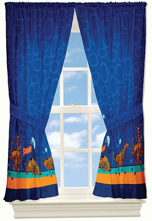 Best Scooby Doo Curtains Set 4Pc Mystery Window Drapery Set With Pictures