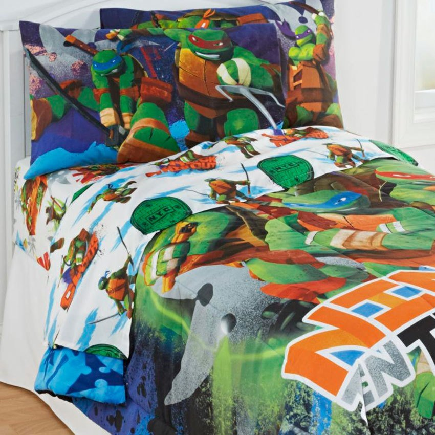 Best 4Pc Teenage Mutant Ninja Turtles Twin Bedding Set With Pictures