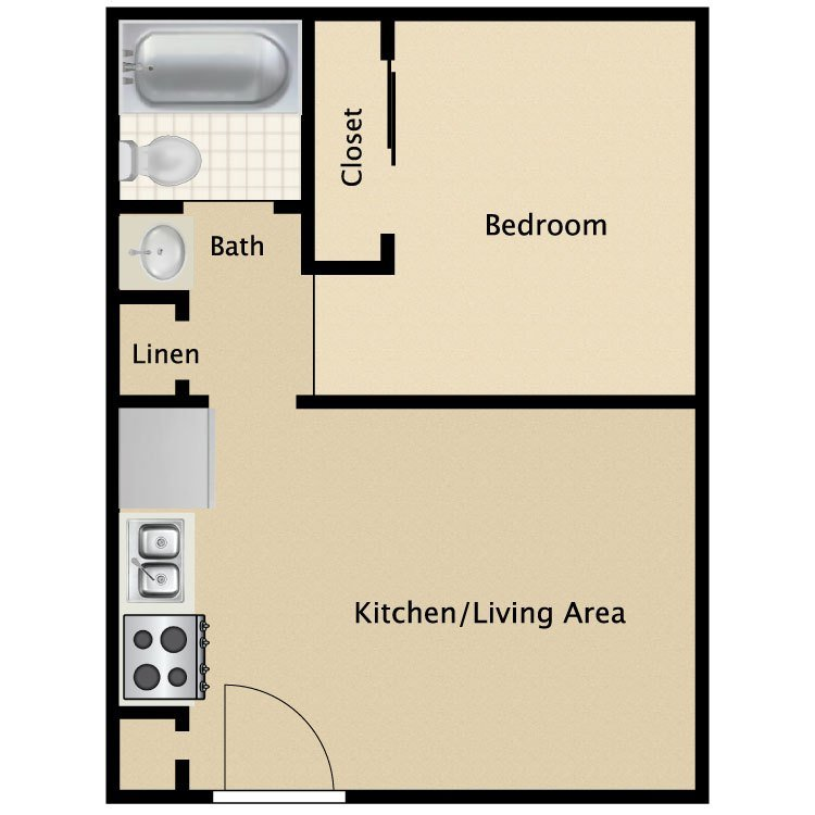 Best Tiny Single Bedroom Layout Studio Apartment Floor Plans Within Small One Plan Efficiency With Pictures