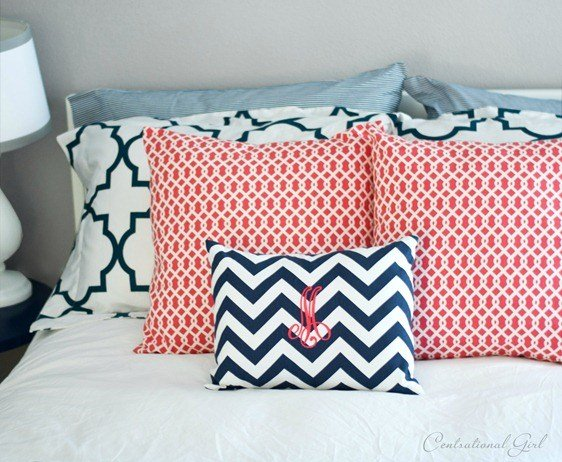 Best Navy Coral Bedroom Centsational Girl With Pictures