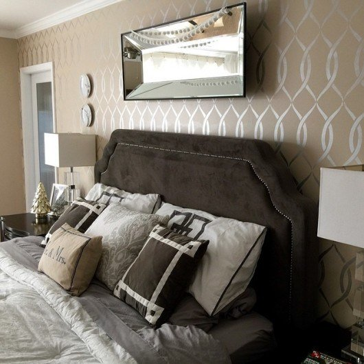 Best Refresh Your Master Bedroom With A Stencil With Pictures