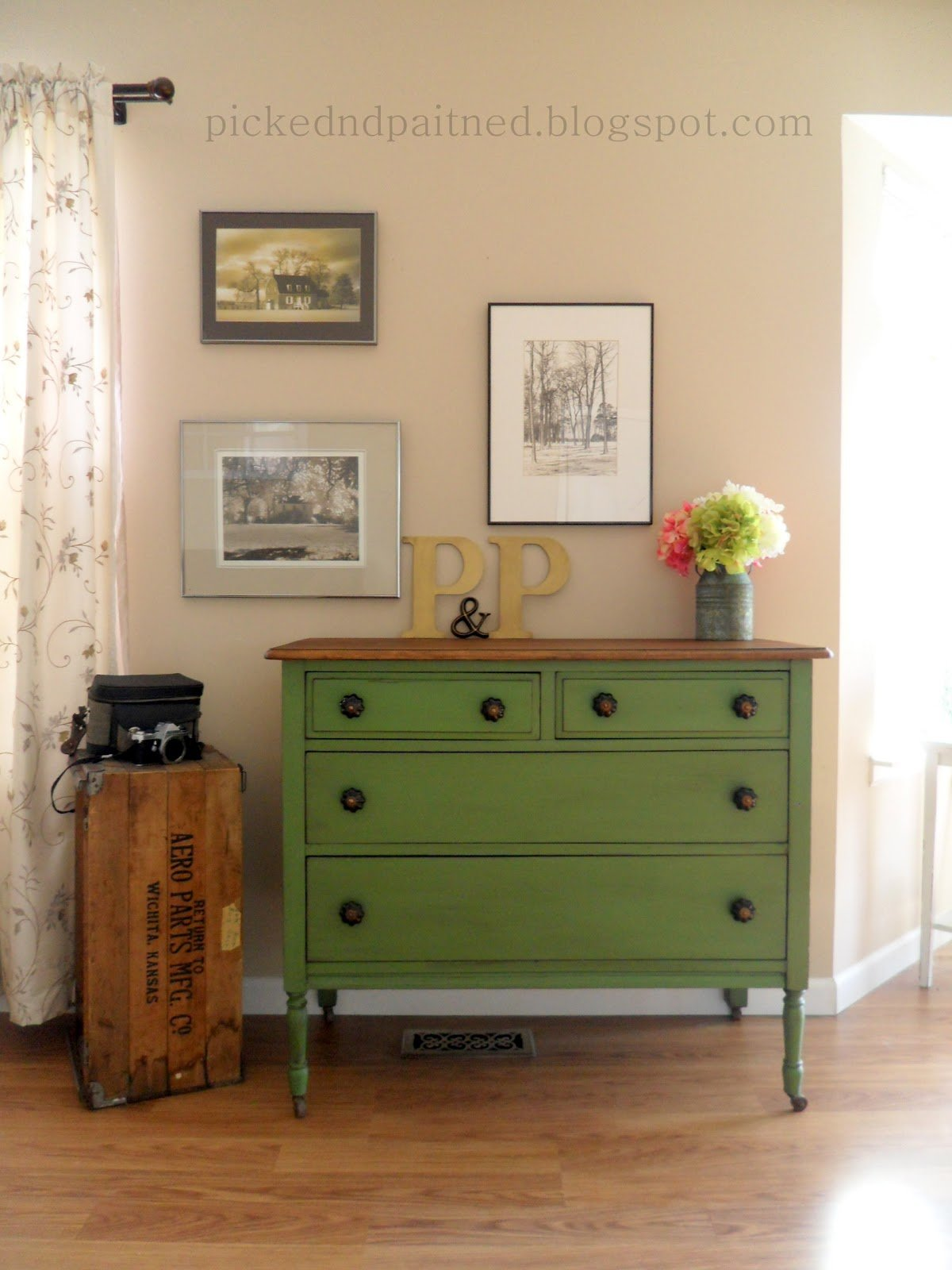 Best Helen Nichole Designs Vintage Green Dresser With Pictures