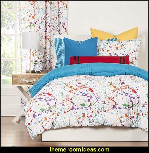 Best Decorating Theme Bedrooms Maries Manor Splatter Paint With Pictures