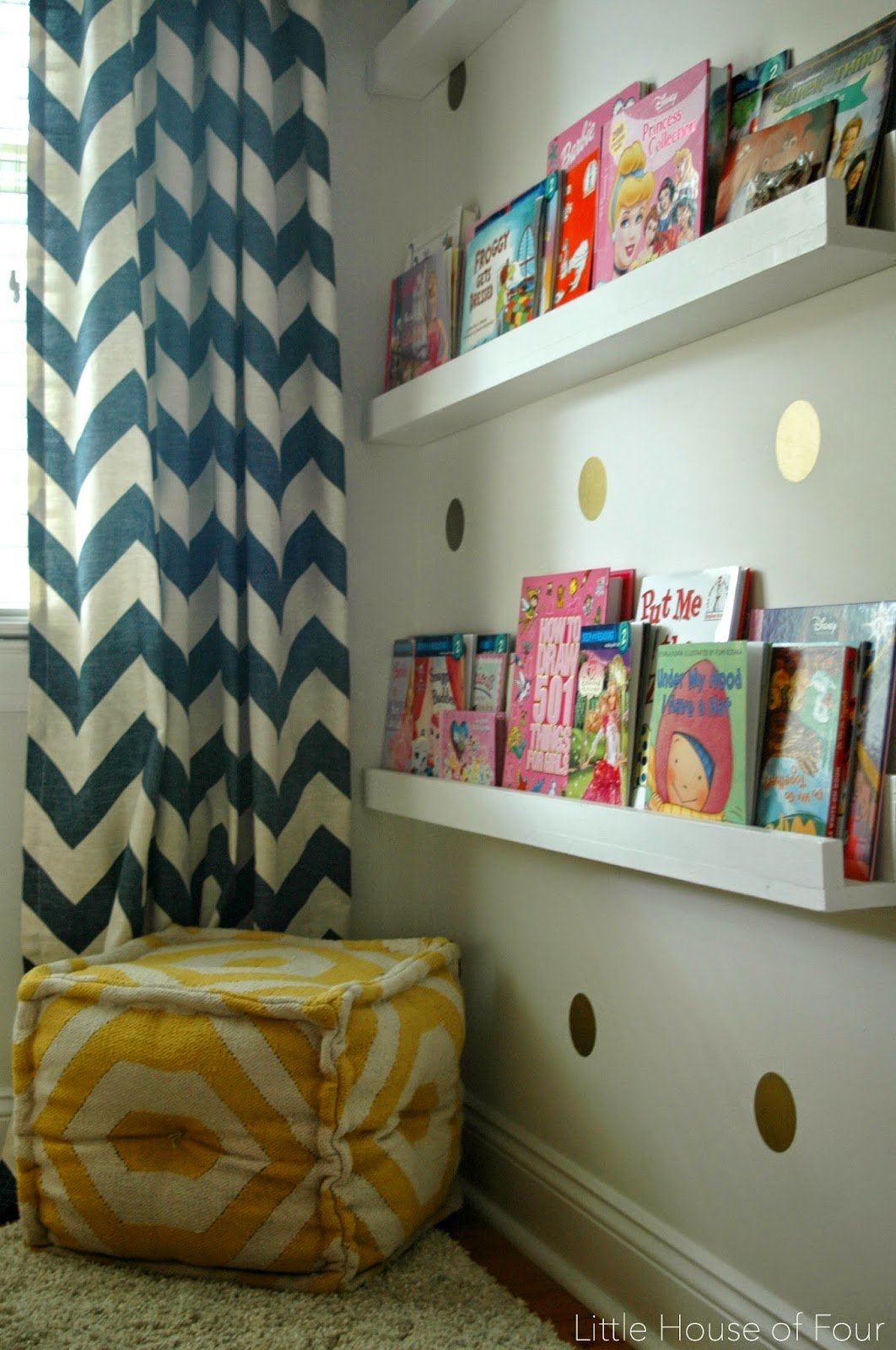 Best Navy Coral And Yellow Bedroom Reveal Little House Of With Pictures