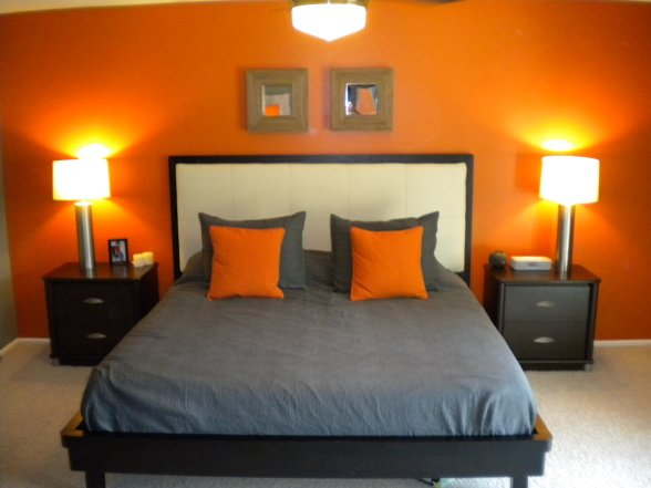 Best My Orange And Grey Bed Room On Pinterest Orange Bedrooms With Pictures