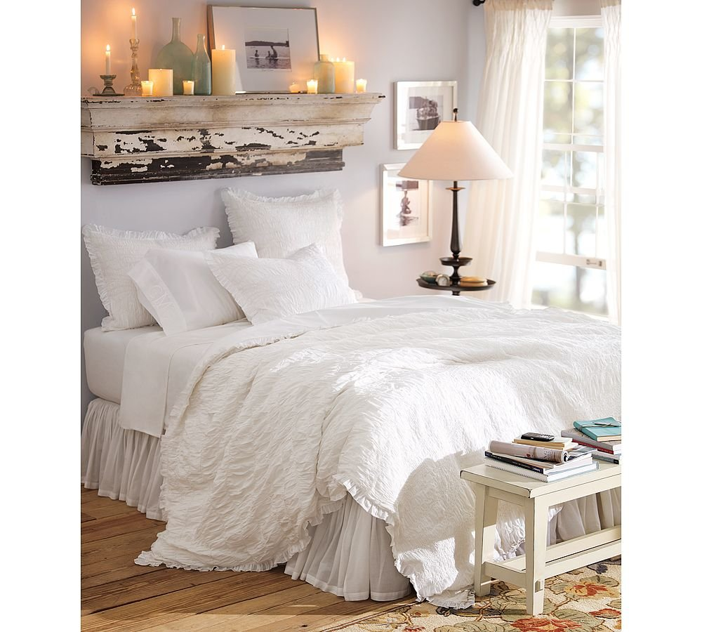 Best A Second Look White Ruched Quilt With Pictures