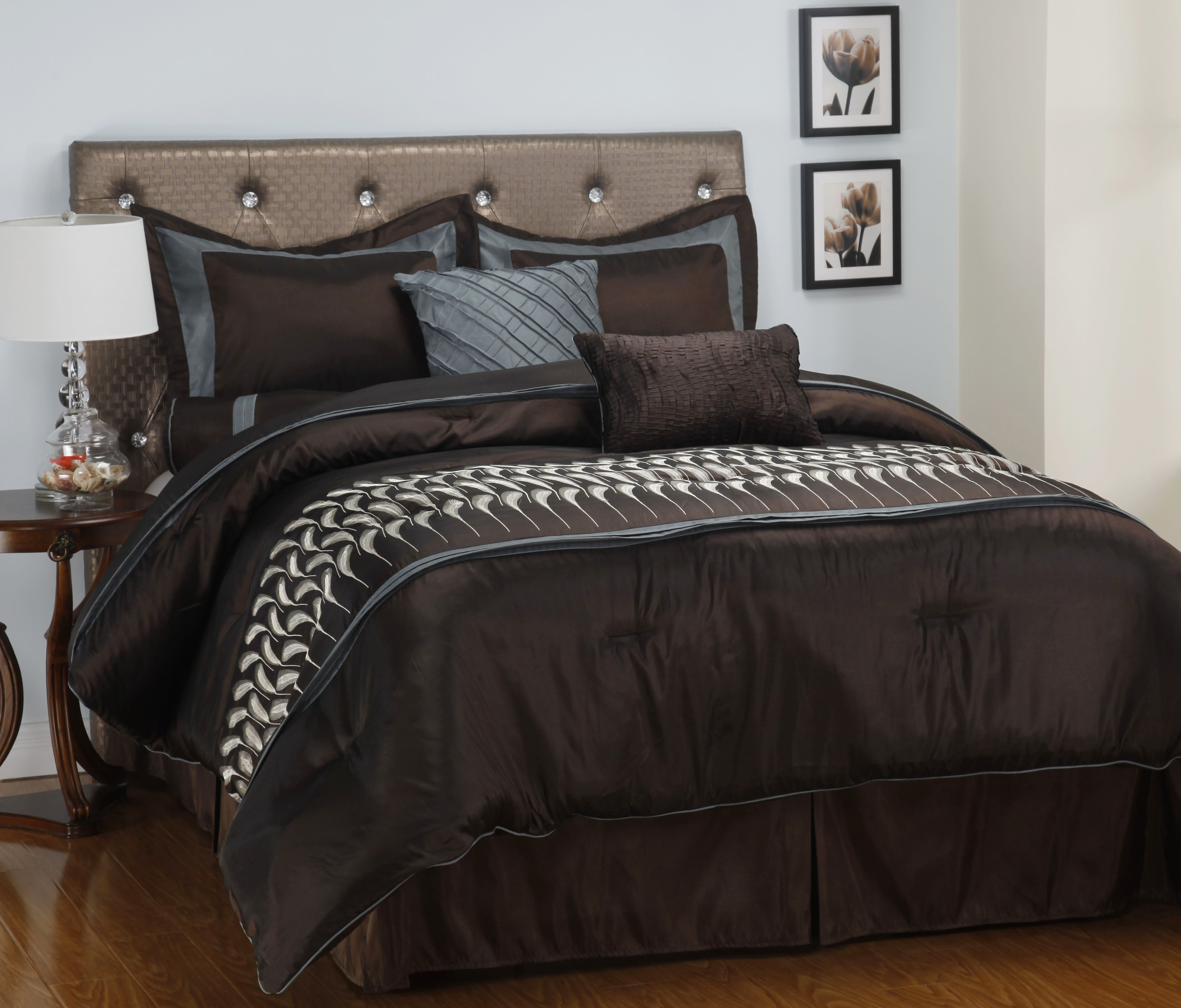 Best 7 12 Piece Bedding Comforter Set Shams Decorative Pillows 13 Designs Ebay With Pictures