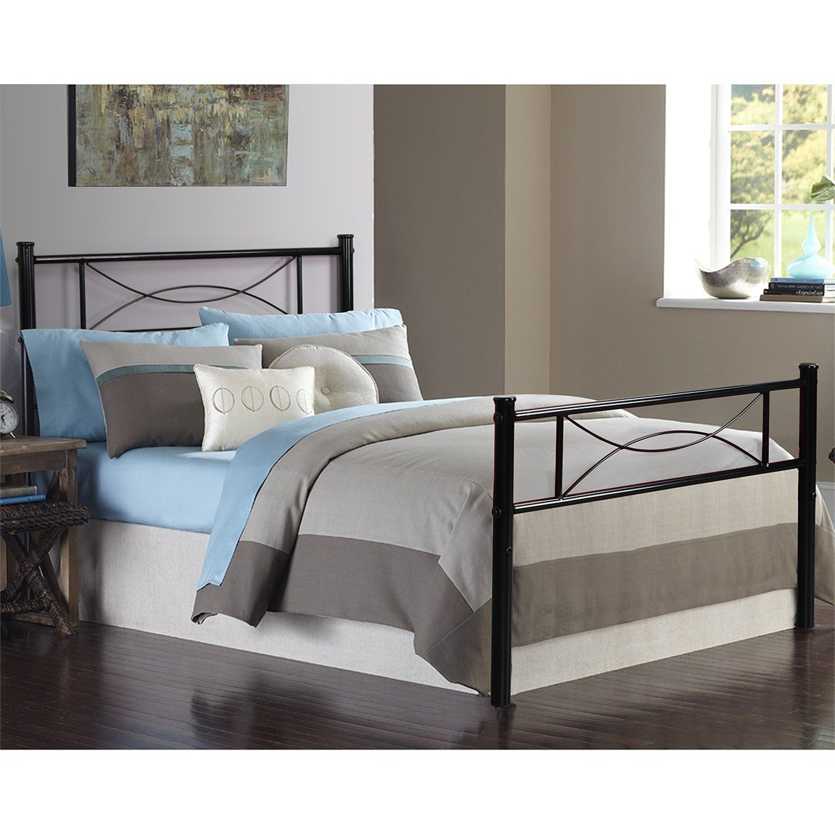 Best Bedroom Metal Bed Frame Platform Mattress Foundation With Pictures