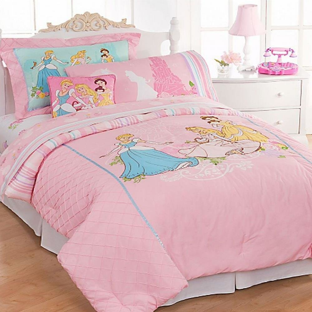 Best Disney Bedding Princess Twin Comforter Bed In A Bag Set Ebay With Pictures