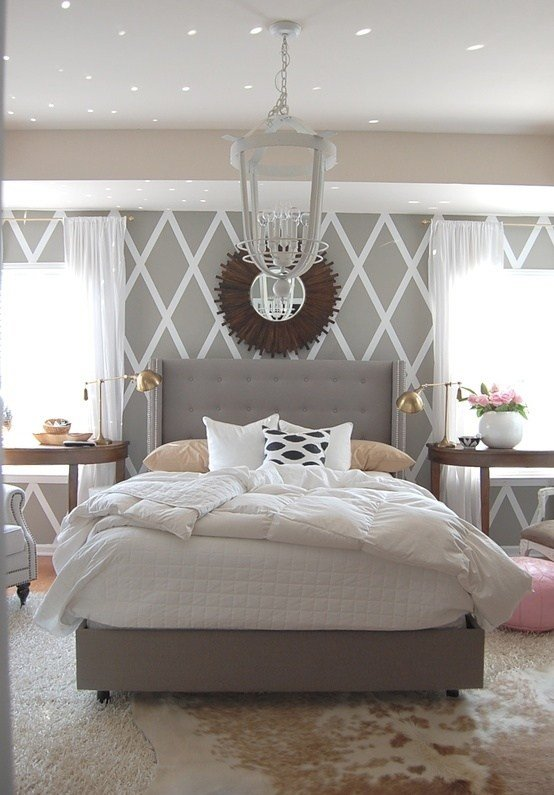 Best Grey White Bedroom With Cowhide Rug Twoinspiredesign With Pictures